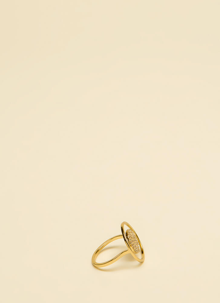 Floating On Air Jeweled Illusion Ring GOLD