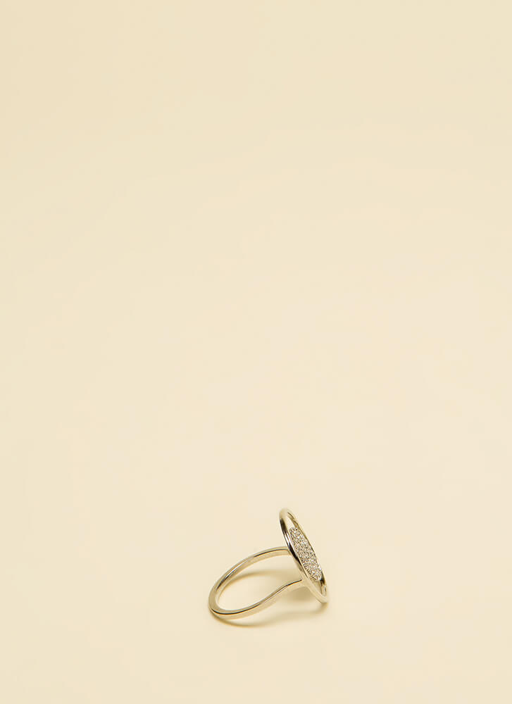Floating On Air Jeweled Illusion Ring SILVER