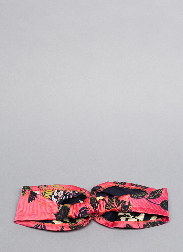 Stay Fresh Embroidered Floral Headband PINK