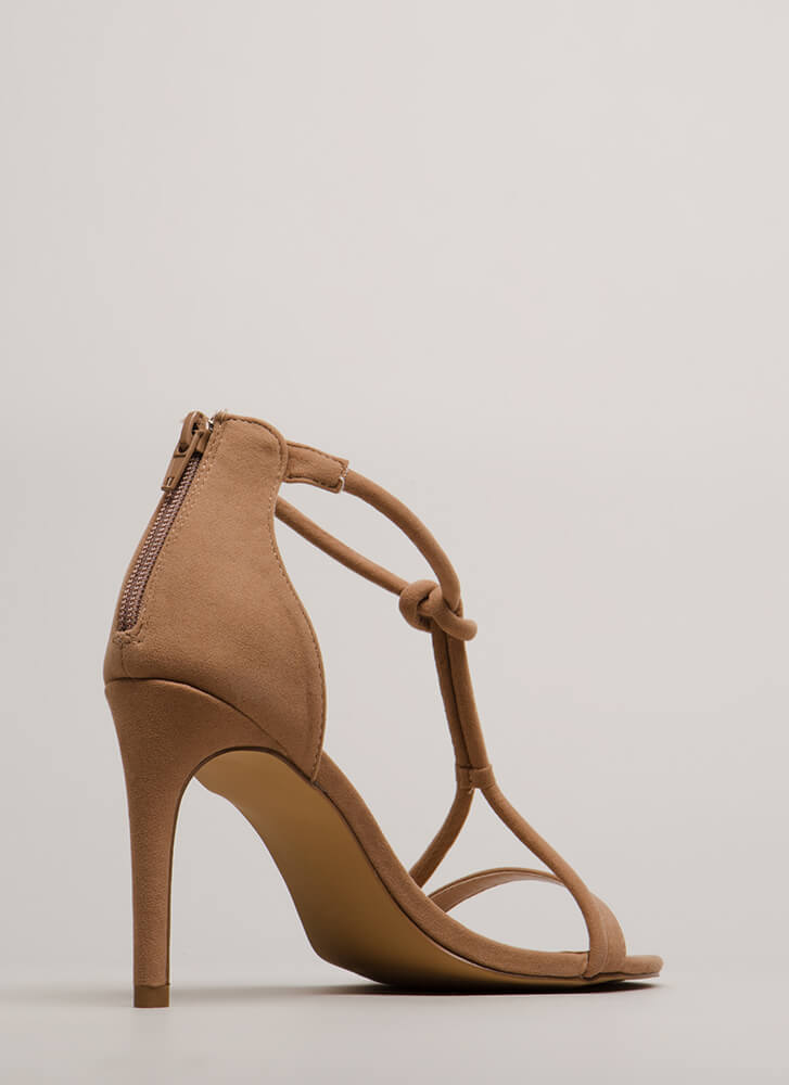 Thrown For A Loop Faux Suede Heels TAUPE (You Saved $23)