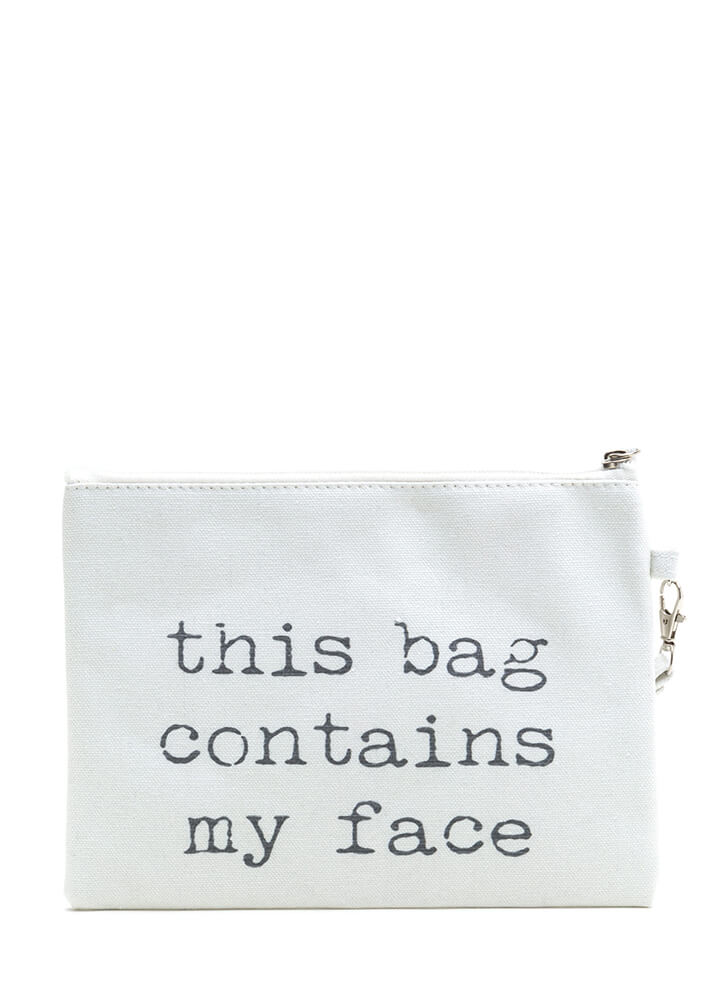 This Bag Contains My Face Makeup Bag BEIGE