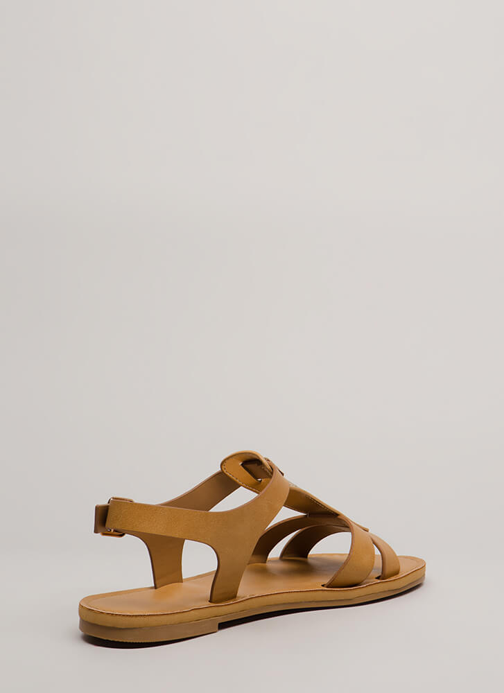 Just Add Glitter Strappy Sandals NATURAL