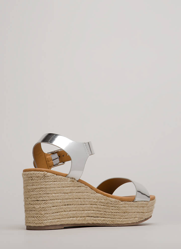 On This Island Metallic Wedges SILVER