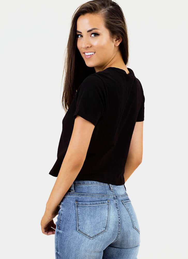 Hardware Store Cut-Out Grommet Top BLACK