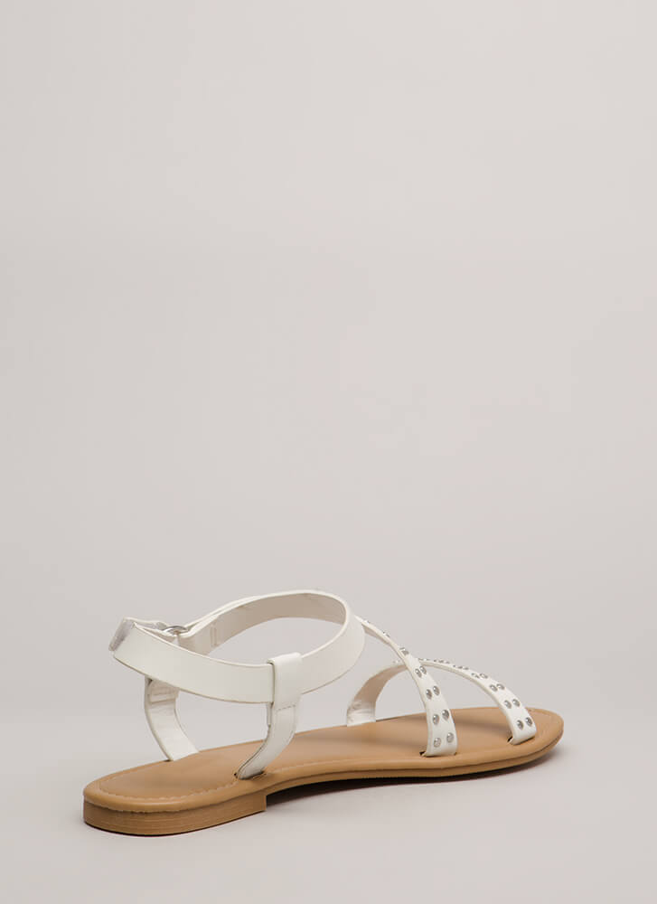 You Stud You Strappy Ringed Sandals WHITE