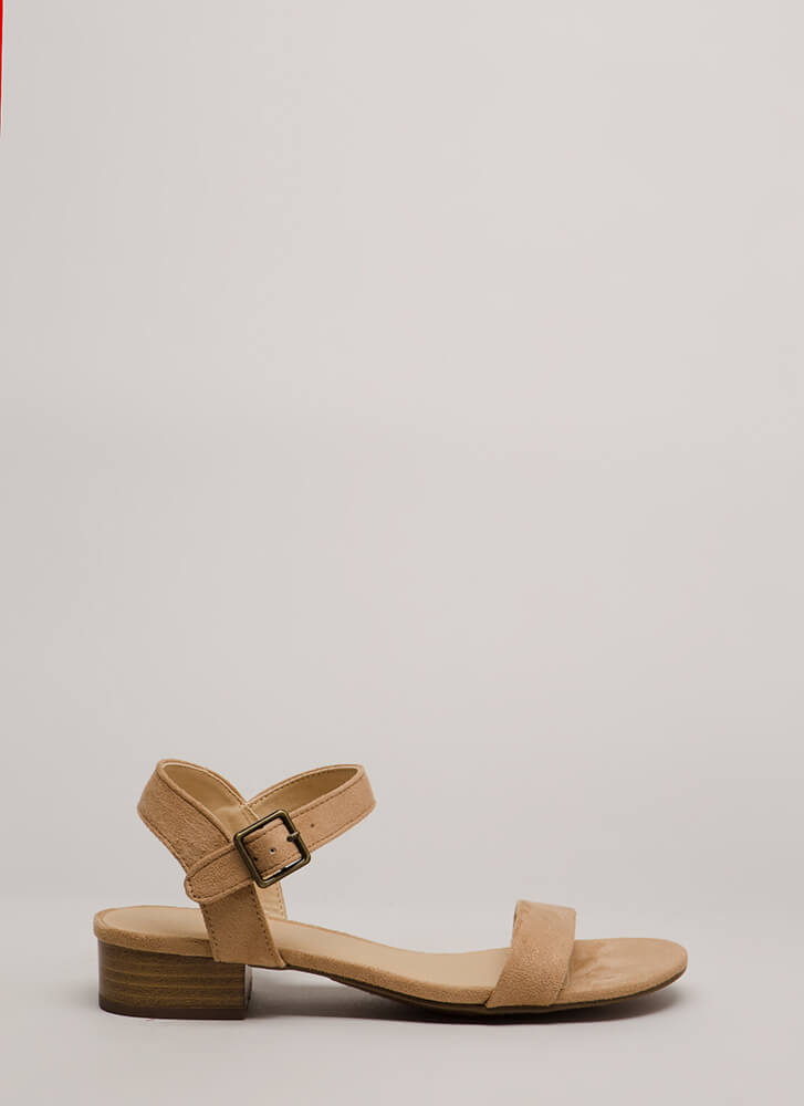 Class Of Its Own Block Heel Sandals CAMEL