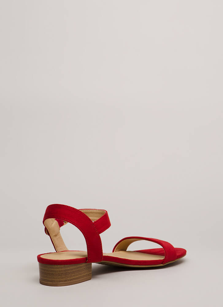 Class Of Its Own Block Heel Sandals LIPSTICK