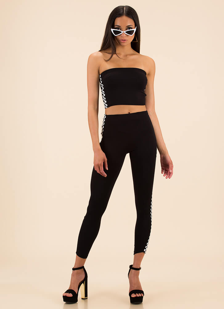 Ready Check Go Top And Legging Set BLACK