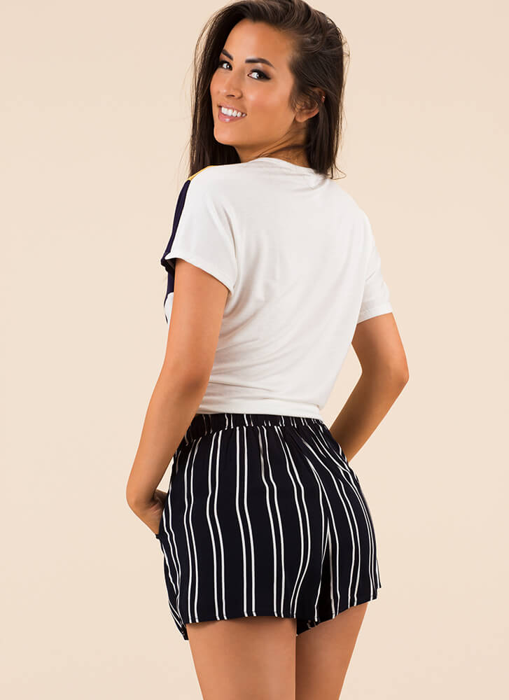 Ready And Willing Striped Shorts NAVY
