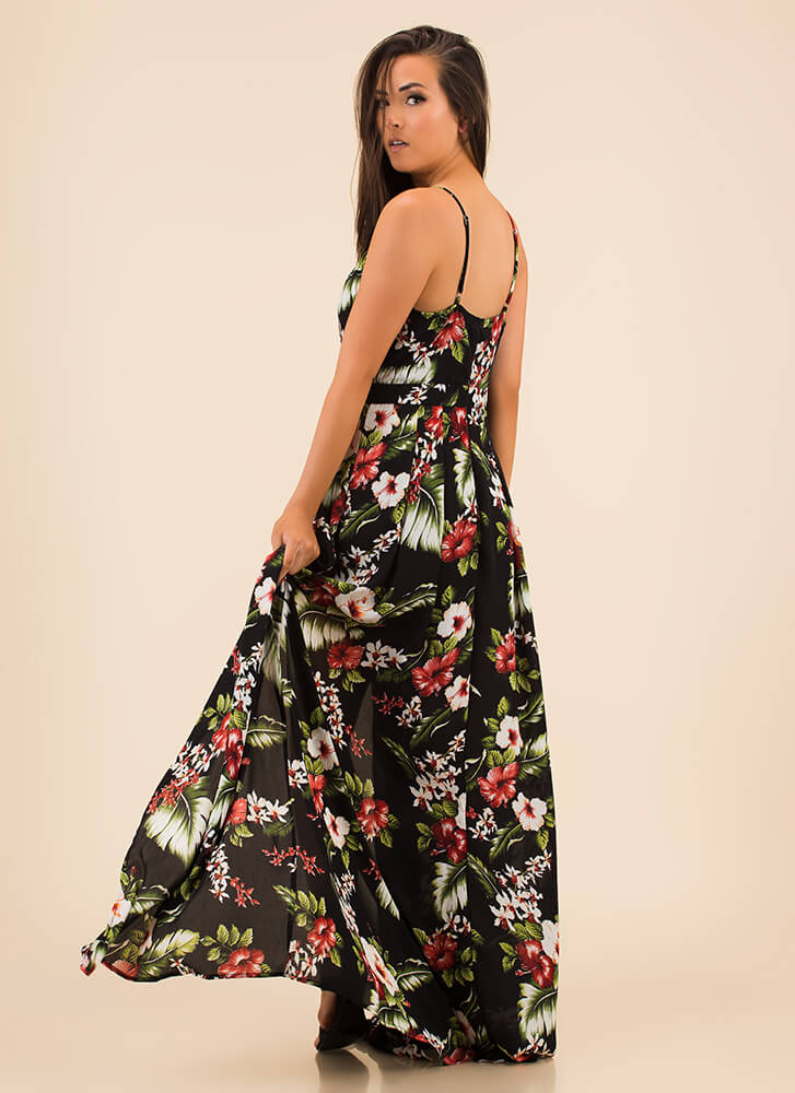 f1e8b1ab183a Showing Growth Floral High-Low Maxi BLACK - GoJane.com