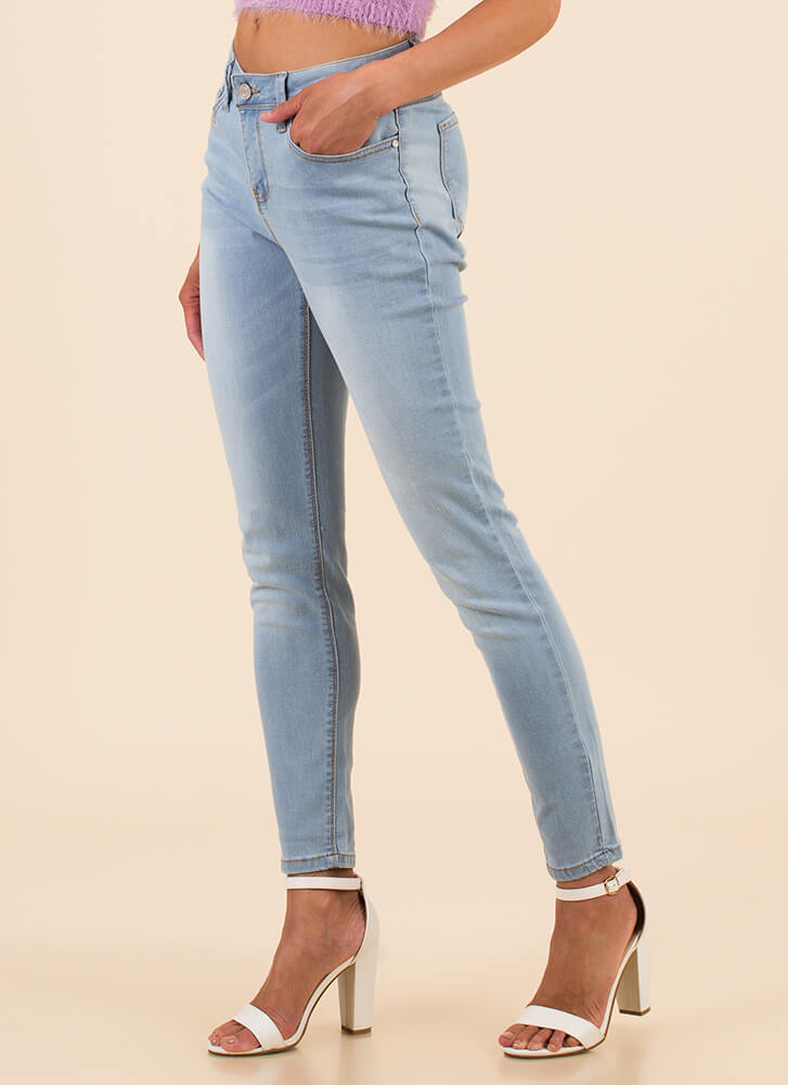 All You Need Mid-Rise Skinny Jeans LTDENIM