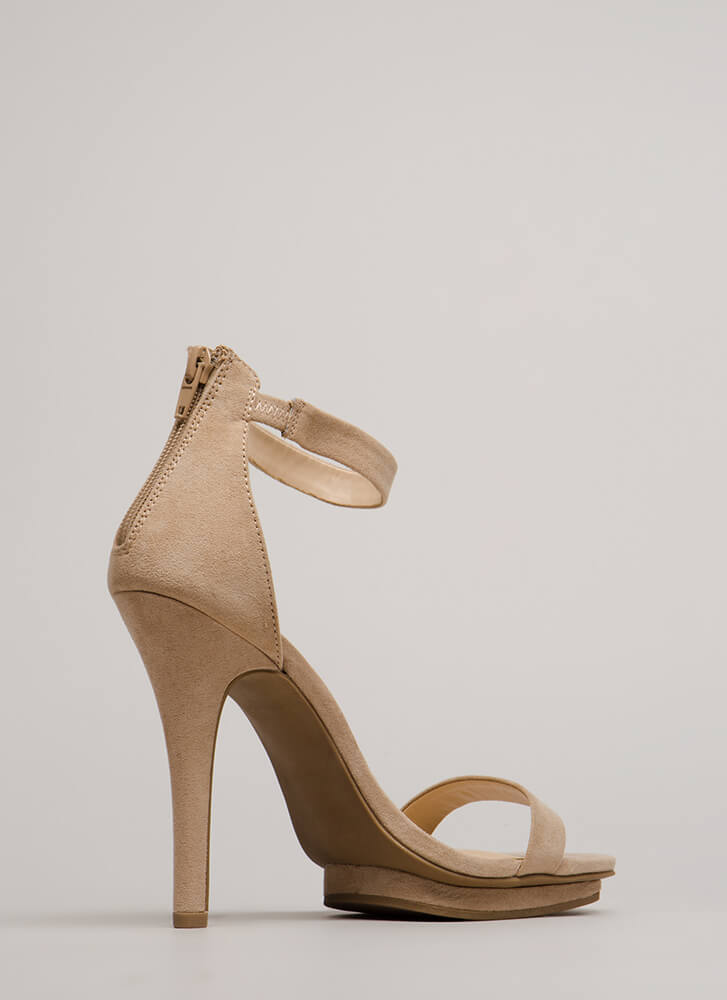How Do You Stack Up Faux Suede Heels NATURAL