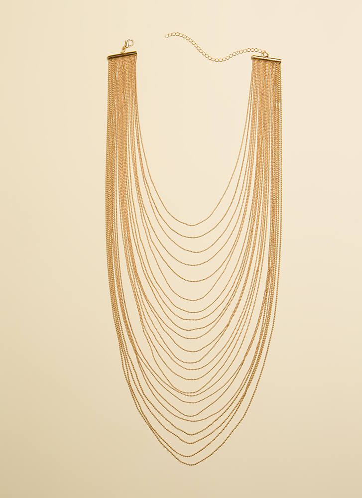 Strand And Deliver Draped Chain Necklace GOLD