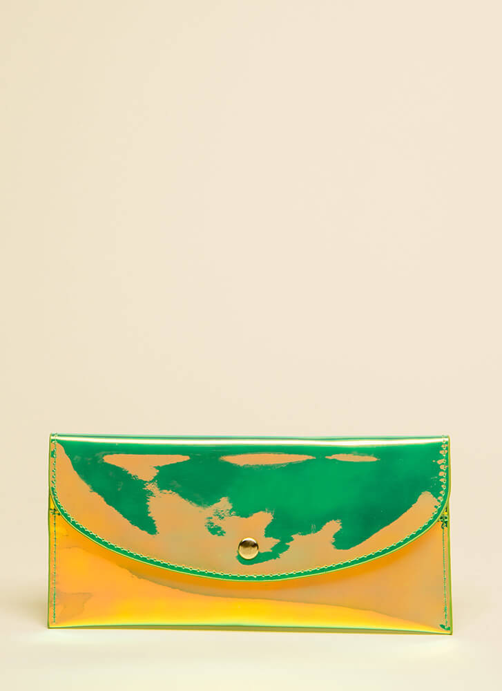 Money Moves Holographic Wallet GREEN