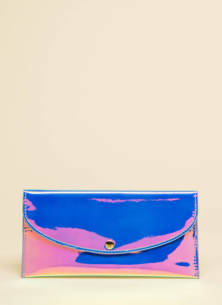 Money Moves Holographic Wallet PINK