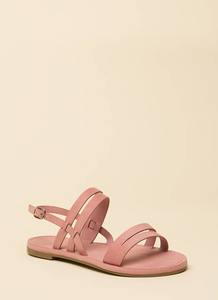Strappy Feet Faux Suede Sandals MAUVE (Final Sale)