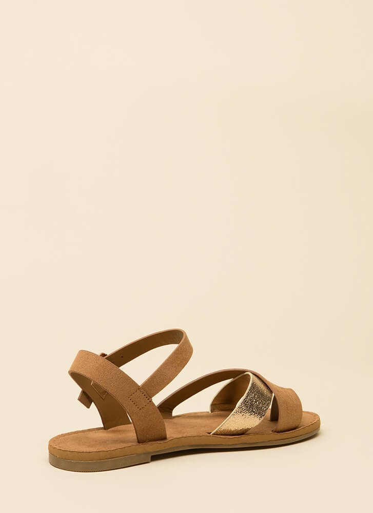 A Little Flash Strappy Sandals TAN