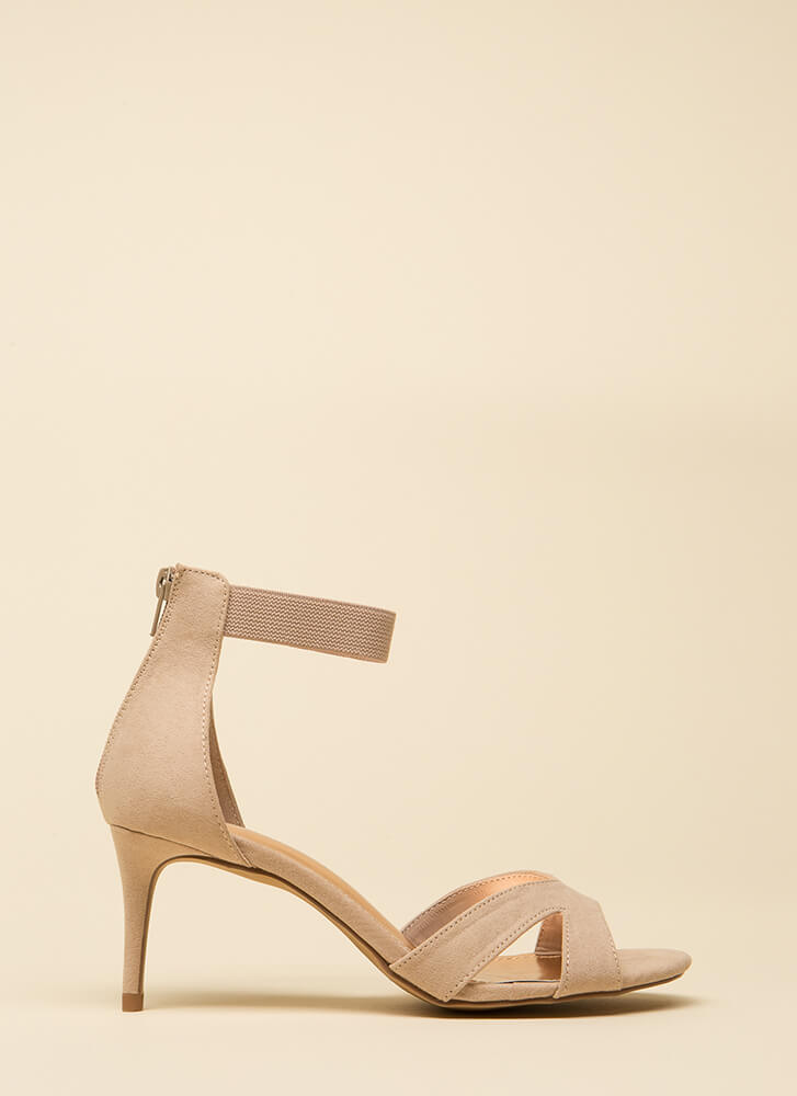 One-Woman Band Short Strappy Heels NUDE