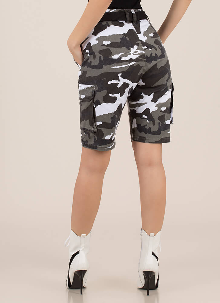 Take Command Belted Camo Cargo Shorts CITYCAMO