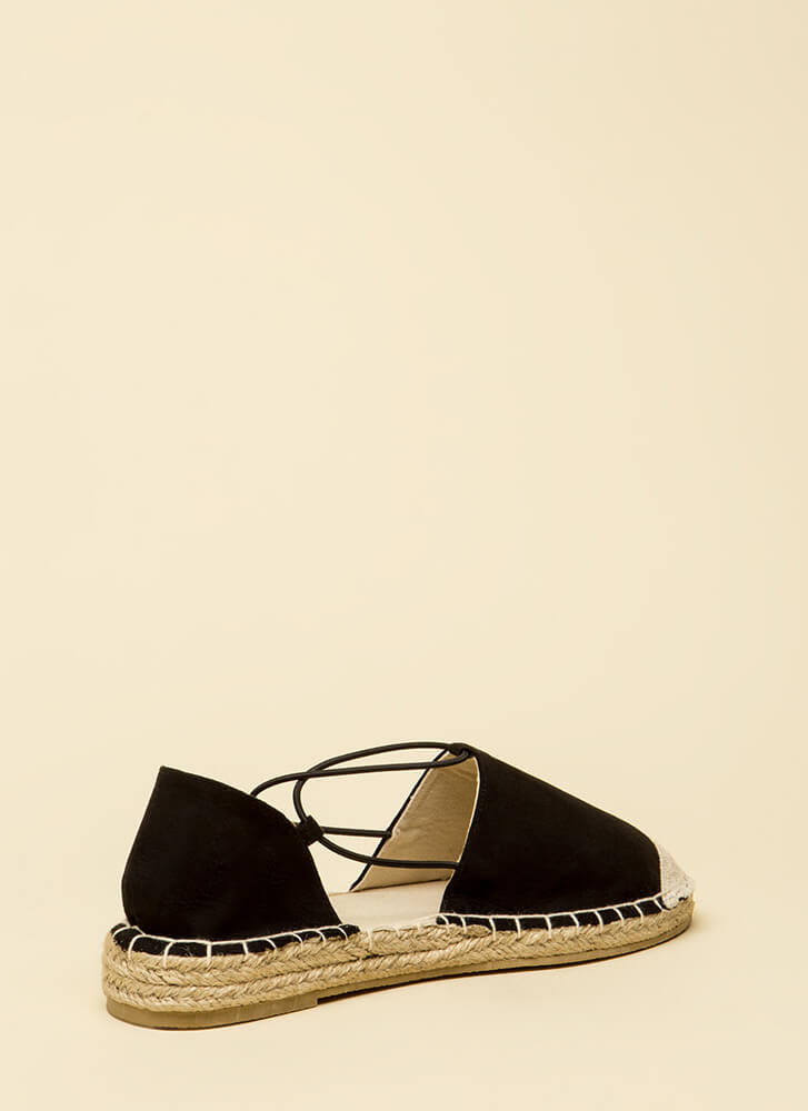 The Journey Starts Here Moccasin Flats BLACK (You Saved $13)