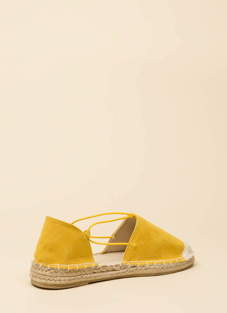 The Journey Starts Here Moccasin Flats YELLOW (You Saved $13)