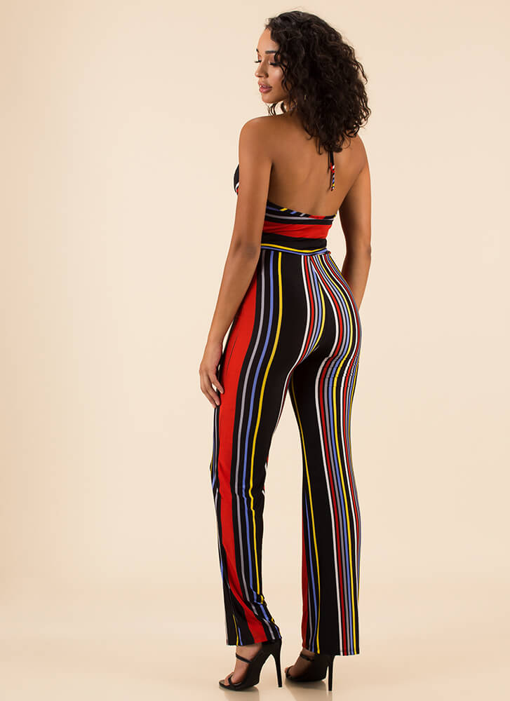 Color Inside The Lines Striped Jumpsuit MULTI