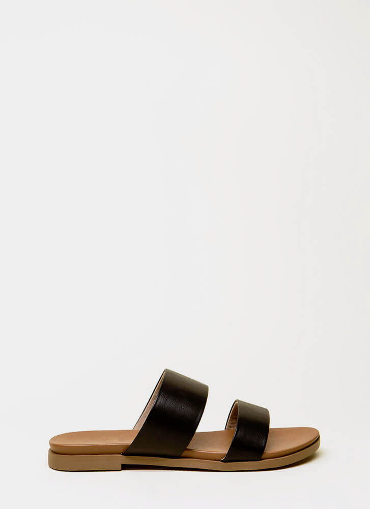 Take The Easy Way Out Slide Sandals BLACK