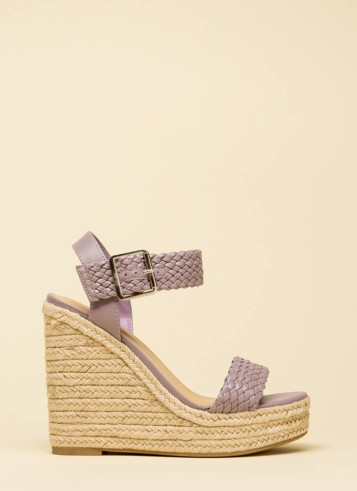 High Time Woven Platform Wedges LILAC