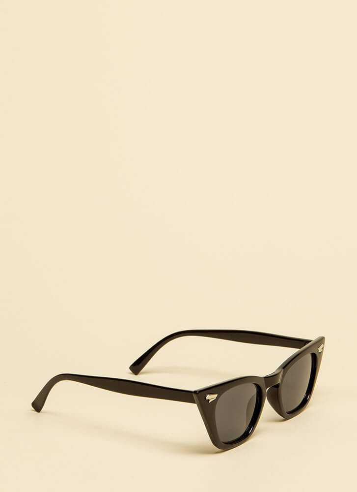 Too Cool For School Pointy Sunglasses BLACK