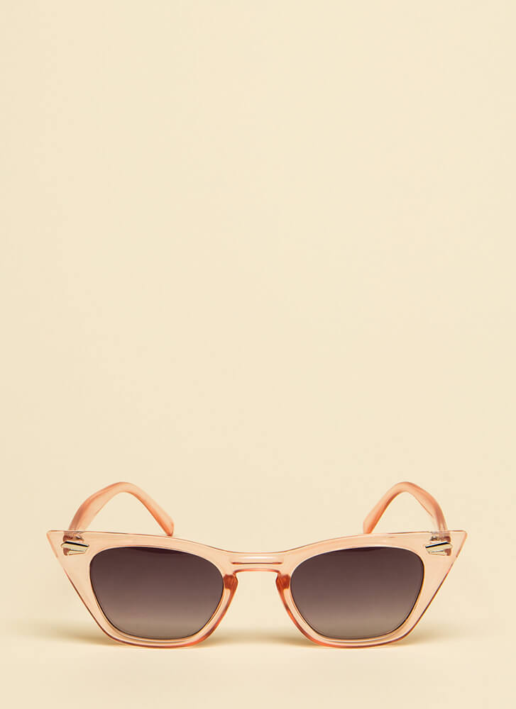 Too Cool For School Pointy Sunglasses PINK