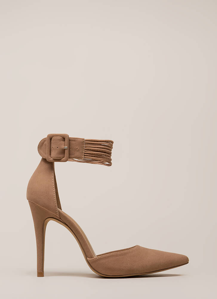 Hit The Right Cords Pointy Heels TAUPE