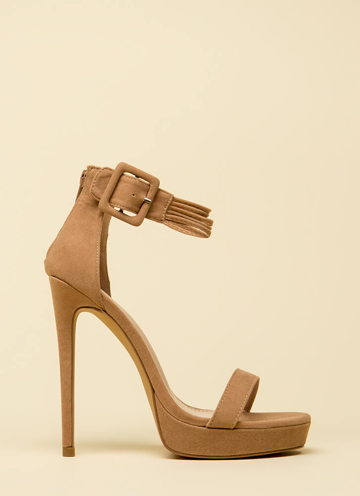 Cord Strength Ankle Strap Platforms TAUPE
