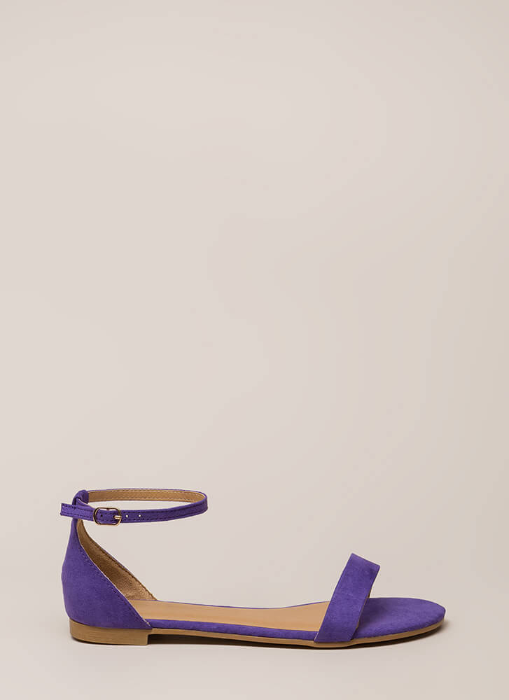 Splendid Faux Suede Ankle Strap Sandals ULTRAVIOLET
