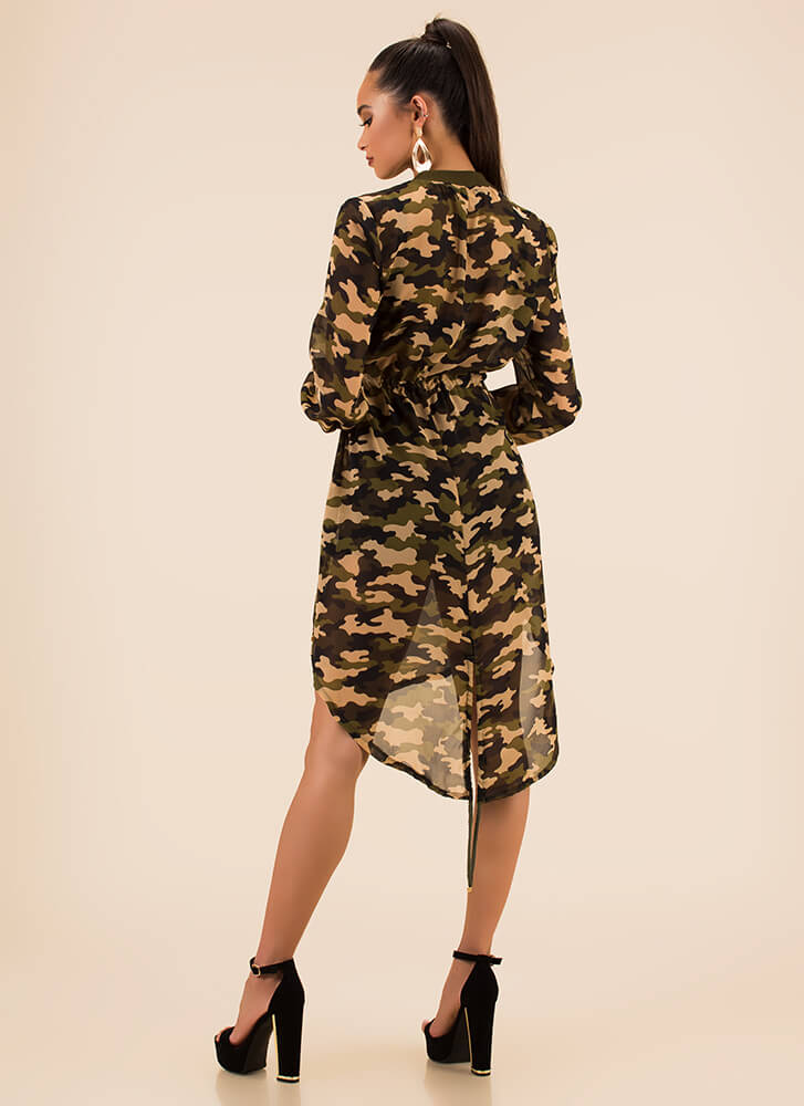 You Can't Hide Drawstring Camo Jacket CAMO (Final Sale)