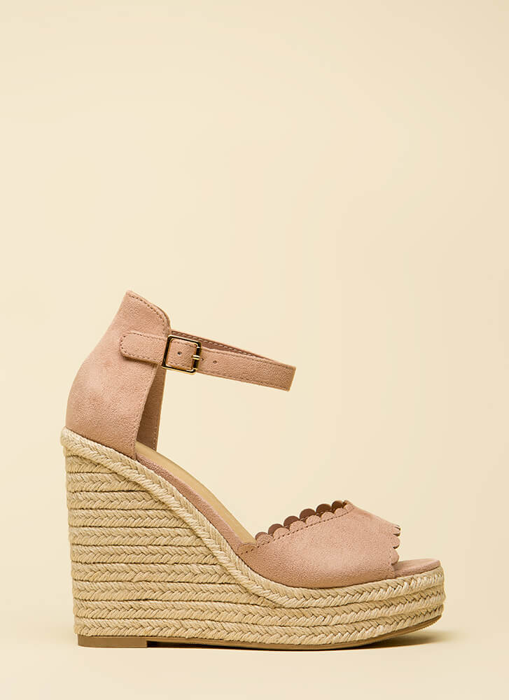 Cutie Patootie Scalloped Wedges DKMAUVE