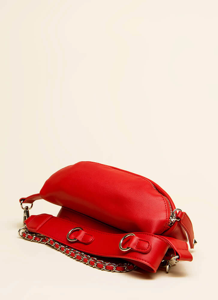 Pick Up The Option Double Strap Purse RED