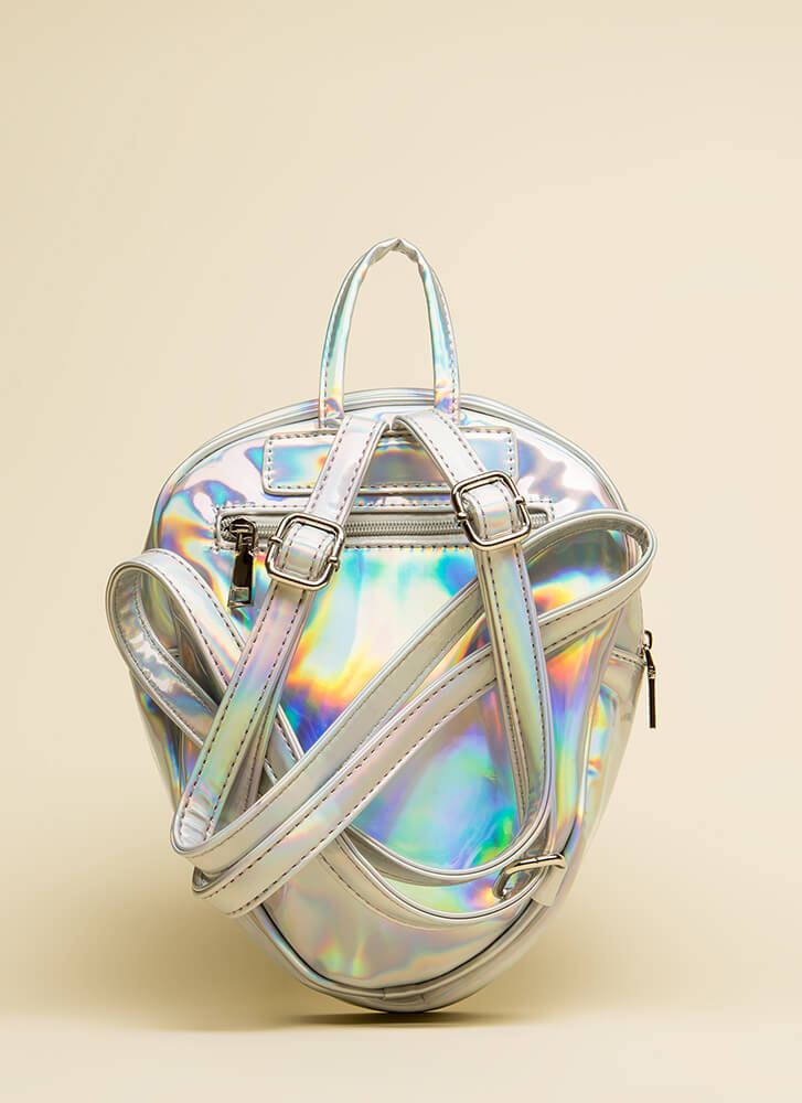 Take Me To Your Leader Alien Backpack SILVER