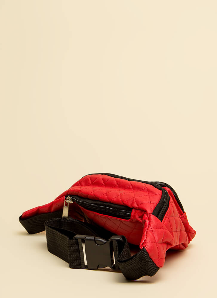 Ready To Roll Quilted Fanny Pack RED