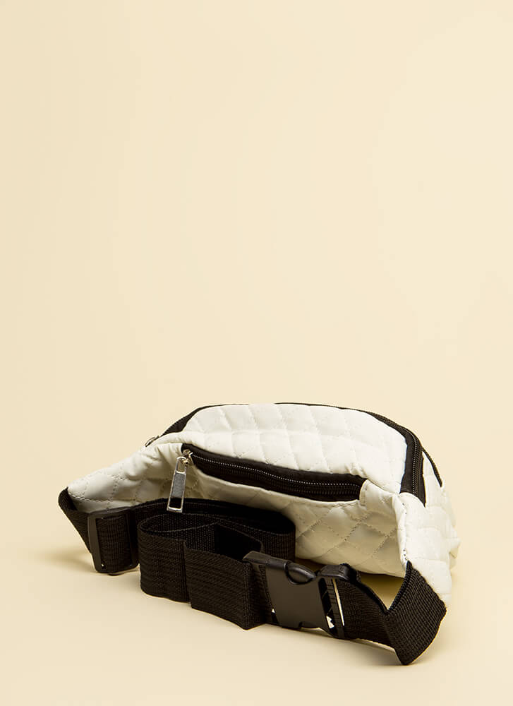 Ready To Roll Quilted Fanny Pack WHITE