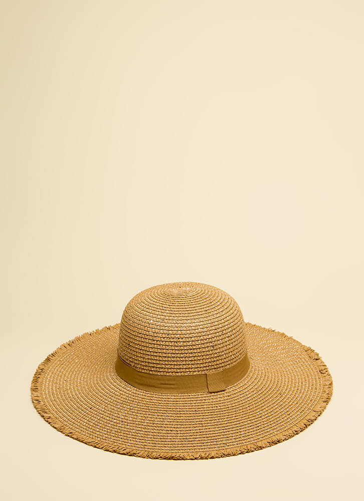 Under The Sun Fringed Sun Hat NATURAL