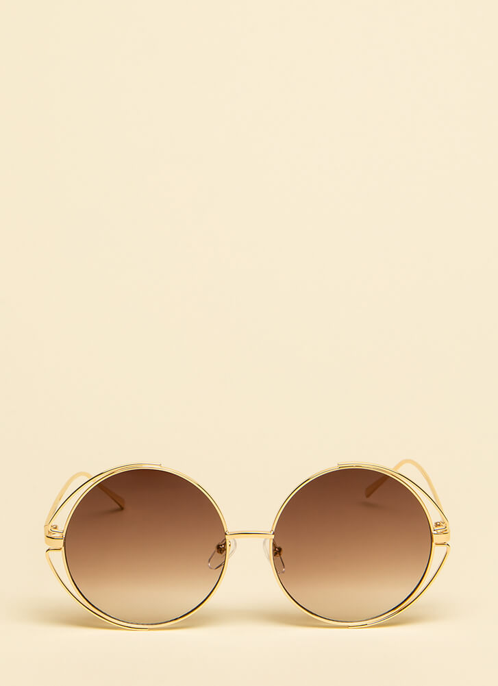 My Outer Circle Wire Rim Sunglasses BROWN