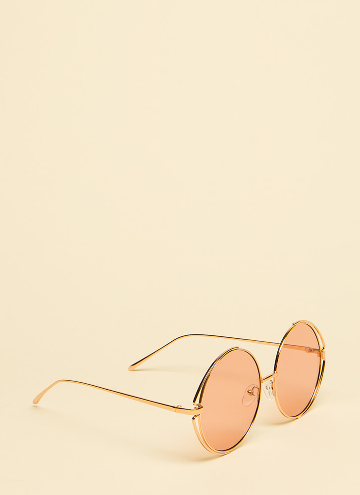My Outer Circle Wire Rim Sunglasses PINK