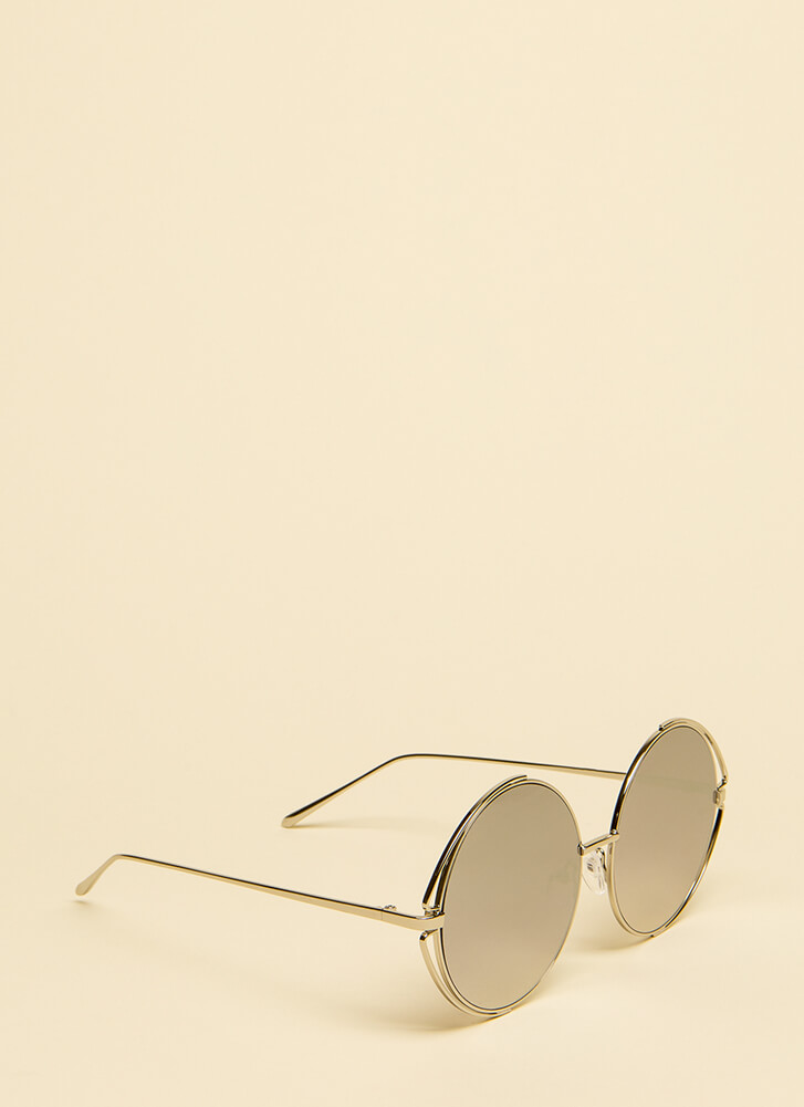 My Outer Circle Wire Rim Sunglasses SILVER (You Saved $8)