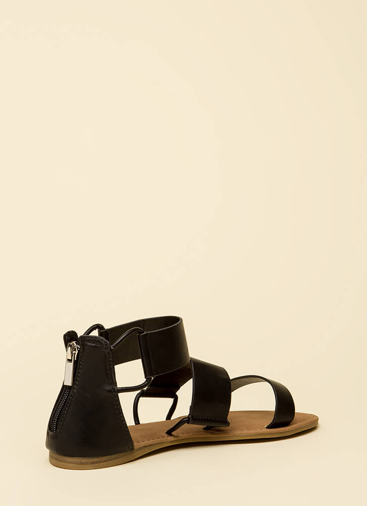 Stay In The Loop Canvas Sandals BLACK