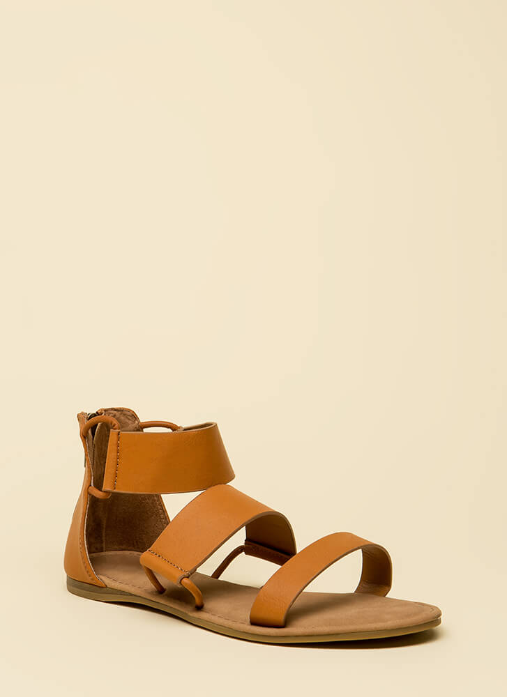 Stay In The Loop Canvas Sandals TAN