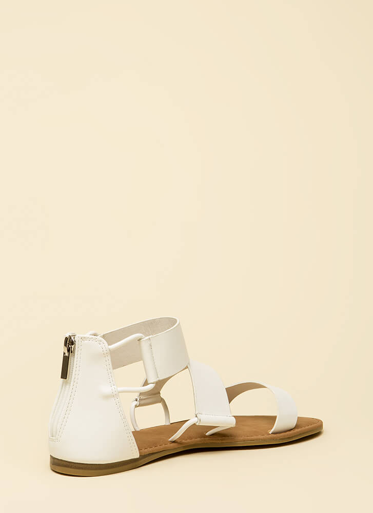 Stay In The Loop Canvas Sandals WHITE