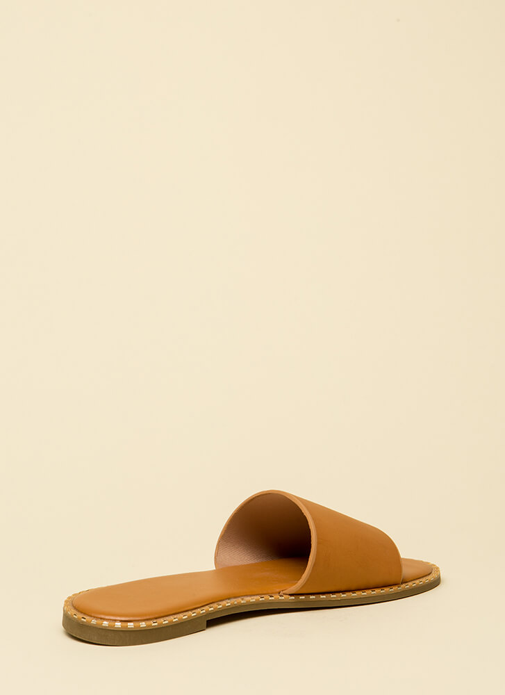 Maximum Style Studded Slide Sandals TAN