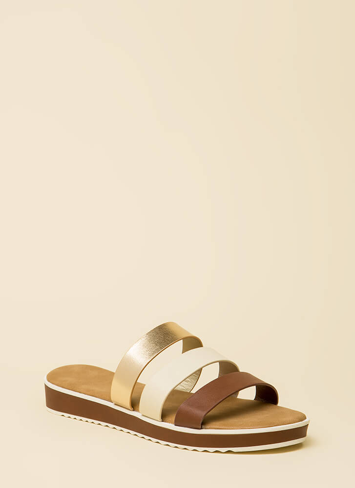 3 Straps And You're Out Platform Sandals by Go Jane