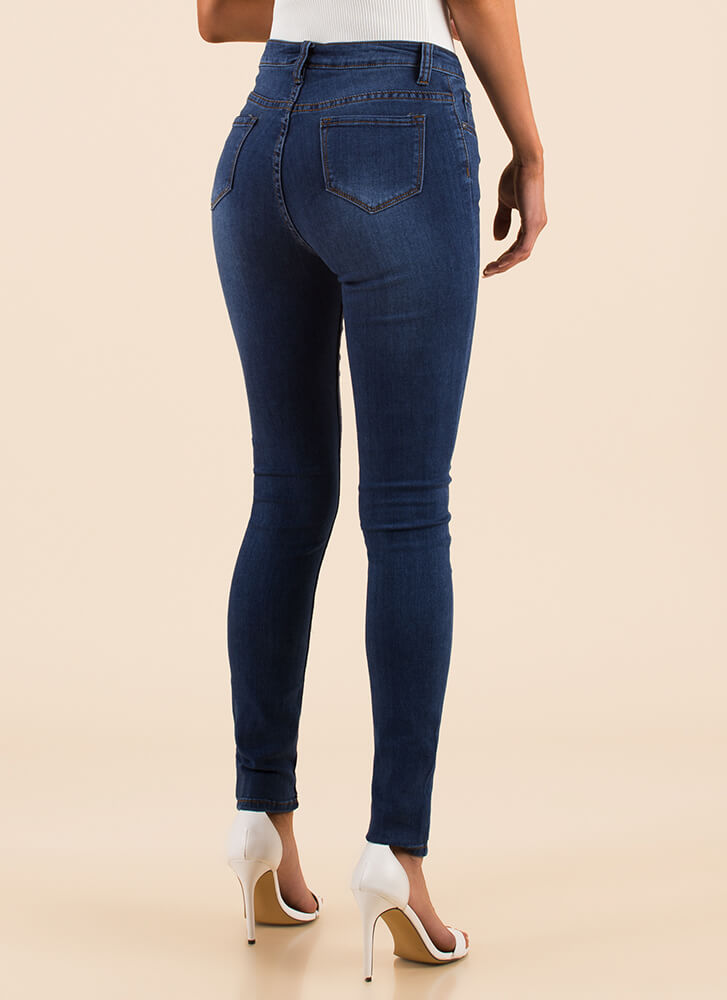 All The Right Places Skinny Jeans BLUE
