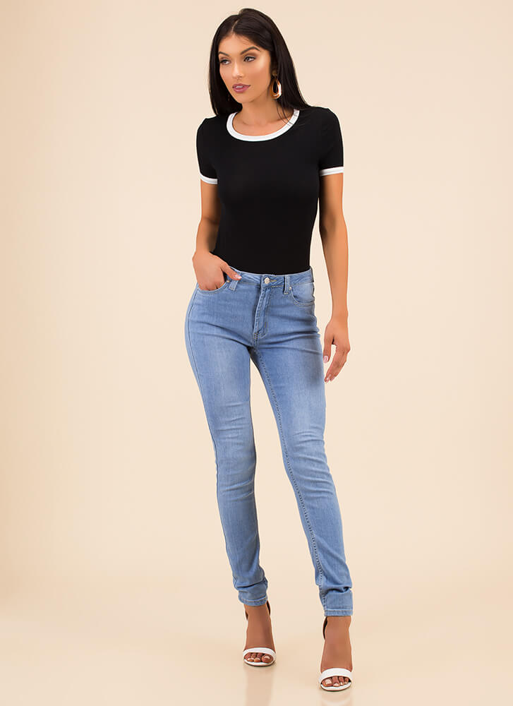 All The Right Places Skinny Jeans LTBLUE